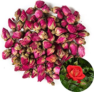 TooGet Fragrant Natural Red Rose Buds Rose Petals Organic Dried Flowers Wholesale, Culinary Food Grade - 4 OZ
