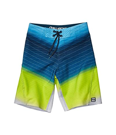 Billabong Kids Fluid Pro Boardshorts (Big Kids) (Neo Lime) Boy