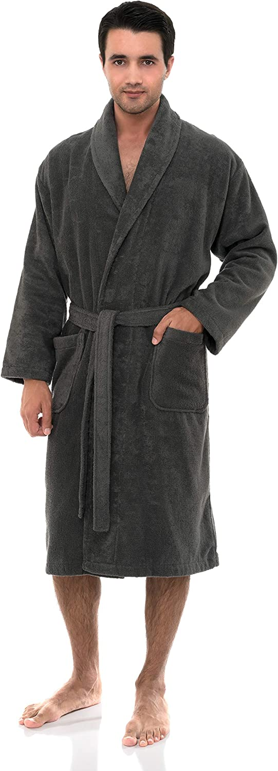 TowelSelections Men's High material Robe Turkish Cotton Bath Shawl Limited time trial price Terry