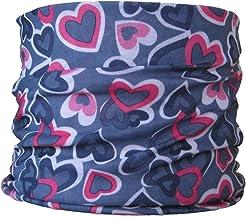 Multifonction Foulard /Écharpe tube de cou coeurs multicolores rose gris