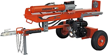 YARDMAX YU2866 28 Ton Full Beam Gas Log Splitter, 4-Way Wedge, Briggs & Stratton,..