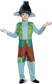Branch Deluxe W/Wig Trolls Costume, Multicolor, Medium (7-8)