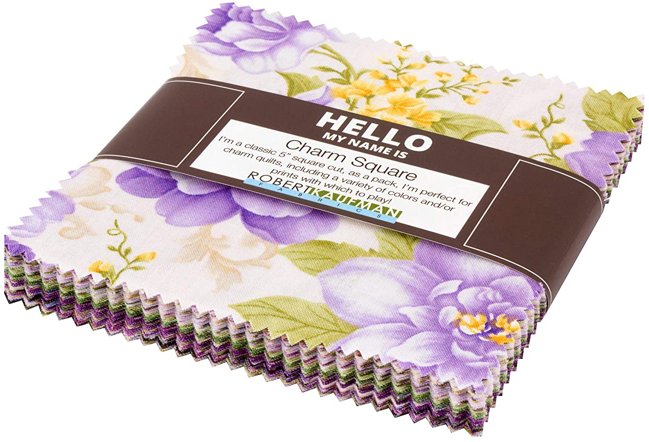 Hyun Joo Lee Beckford Terrace Wisteria Charm Square 42 5-inch Squares Robert Kaufman CHS-782-42