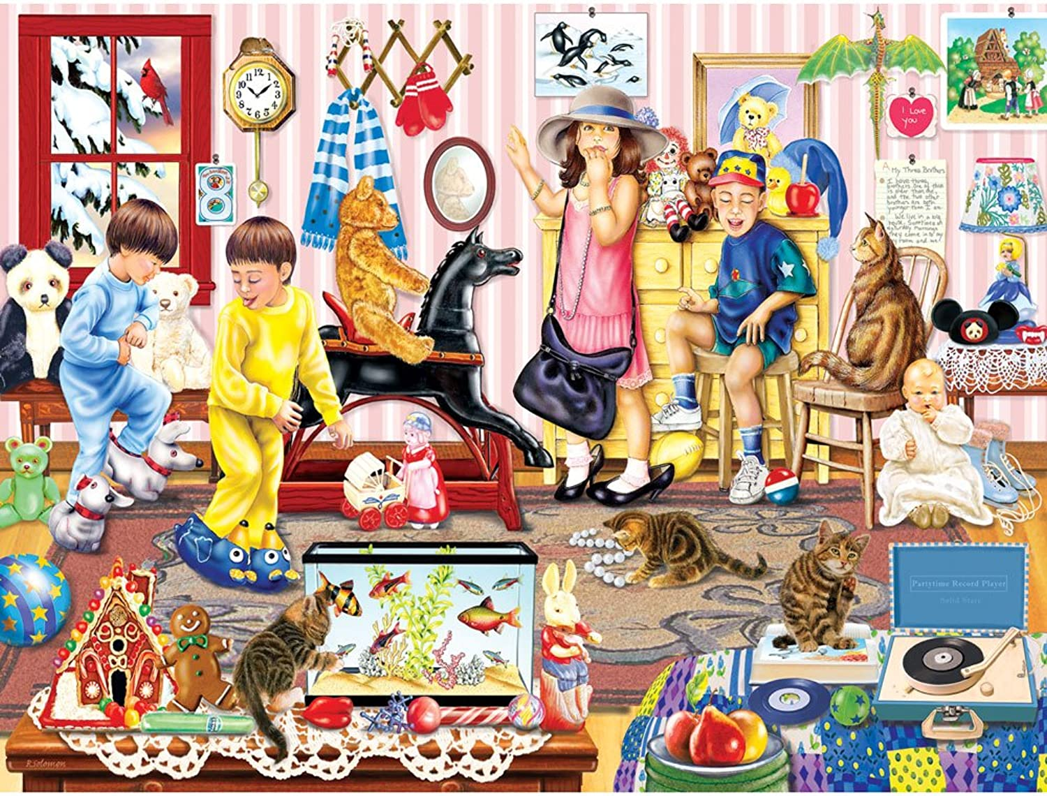 Bits and PiecesSaturday Morning in Sissy's Room  300 Piece Jigsaw Puzzle by Bits and Pieces