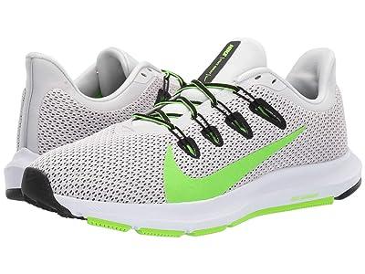 Nike Quest 2 (Platinum Tint/Electric Green/Black/White) Men