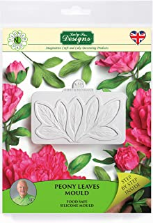 Peony Leaves Sugarpaste Silicone Mold, Flower Pro by Nicholas Lodge for Cake Decorating, Crafts, Cupcakes, Sugarcraft, Candies, Chocolate, Card Making and Clay, Food Safe Approved, Made in the UK