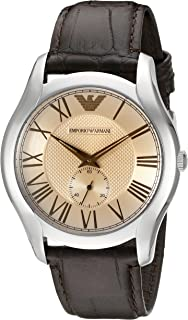Emporio Armani Men's AR1704 Classic Champagne Dial Brown Leather, Watch