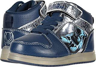 Favorite Characters Black Panther Motion Lights Hi Tops Sneaker/Shoes Toddler/Little Kid Black