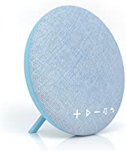 Tzumi Deco Series Speaker - Large Wireless Bluetooth Fabric Speaker - Add Powerful Sound and Ambiance to Any Room Blue
