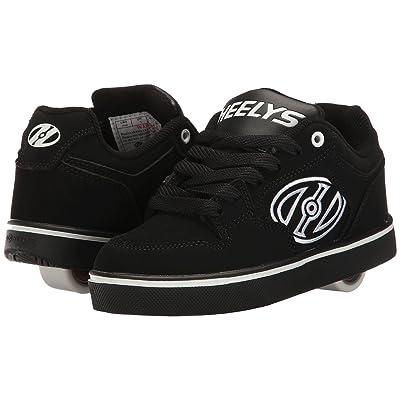 Heelys Motion Plus Solid (Little Kid/Big Kid/Adult) (Black/White) Boys Shoes