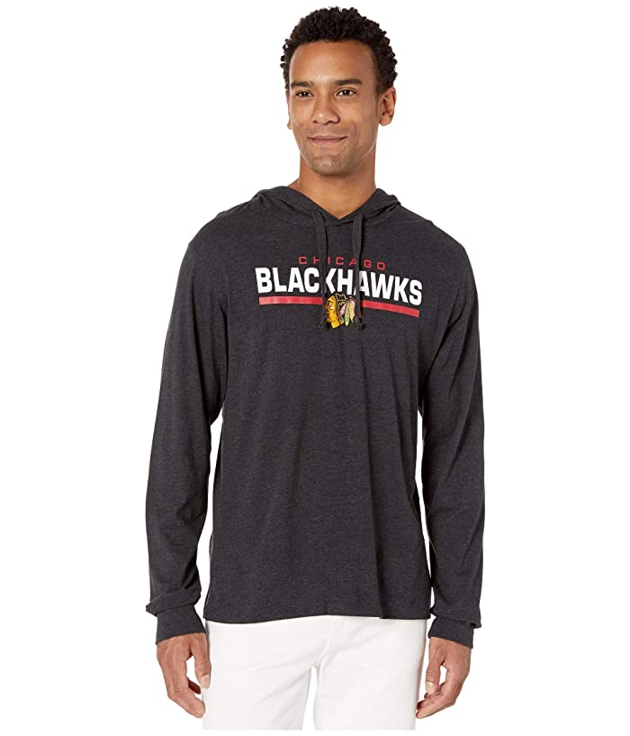 Chicago Blackhawks End Line Club Hoodie Jet Black