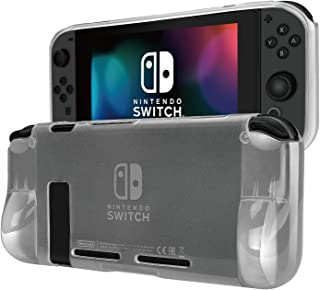 TNP Switch Case Cover for Console & Joy-Con Controller - Travel Friendly Crystal Clear TPU Plastic Shell Protector, Anti-Scratch Shockproof Protective Nintendo Switch Accessories (Translucent)