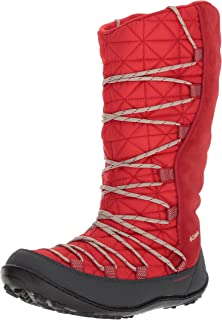 Columbia Unisex Youth Loveland Omni-Heat Snow Boot, Bright Red, Ancient Fossil, 6 M US Big Kid