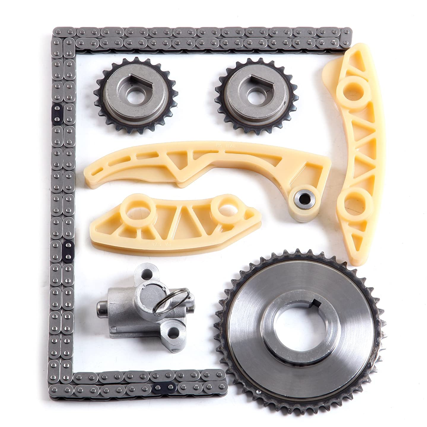 CCIYU Timing Part 9-4202S Timing Chain Tensioner Guide Rail Crank Sprocket fits for 2002 2003 2004 2005 Chevrolet Cavalier 2.2L 2198CC 134Cu. in. l4 Gas DOHC Naturally Aspirated