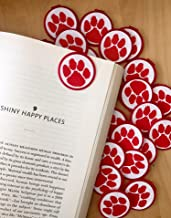 RED Spirit Paw Print School Mascot Bookmarks - 36 Bulk Bookmarks for Kids Girl's Boys- School Student Incentives – Library incentives – Reading Incentives - Party Favor Prizes Classroom Reading Award