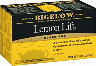 Bigelow Lemon Lift Black Tea Bags 20-Count Boxes (Pack of 6), 120 Tea Bags Total. Caffeinated Individual Black Tea Bags, for Hot Tea or Iced Tea, Drink Plain or Sweetened with Honey or Sugar