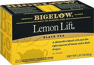 Bigelow Lemon Lift Black Tea Bags 20-Count Boxes (Pack of 6), 120 Tea Bags Total. Caffeinated Individual Black Tea Bags, for Hot Tea or Iced Tea, Drink Plain or Sweetened with Honey or Sugar