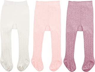 1b9398d9f94af Zando Baby Girls Tights Soft Cable Knit Cotton Leggings For Baby Big Girls  Toddler Seamless Socks