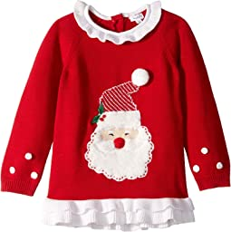 Red Santa Christmas Ruffle Sweater (Infant/Toddler)
