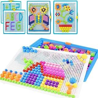 Creative Mosaique Puzzle 296pcs Bloc de Construction Magnétique Jeu de Construction Colorée Jouet Educatif DIY Assortiment...