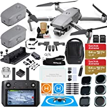 DJI Mavic 2 PRO Drone Quadcopter with DJI Smart Controller (W/Touch Screen Display) and Fly More Kit Combo; Comes with 3 Batteries, Hasselblad Camera Gimbal Bundle with Must Have Accessories