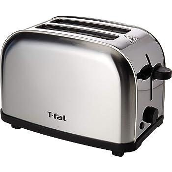 Tostador de Pan T-Fal TT330DMX Ultra Toaster Compacto Inox para dos panes con 6 niveles de temperatura de 700W y acero inoxidable con terminado cepillado.