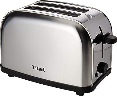 Tostador de Pan T-Fal TT330DMX Ultra Toaster Compacto Inox para dos panes con 6 niveles de temperatura de 700W y acero inoxid