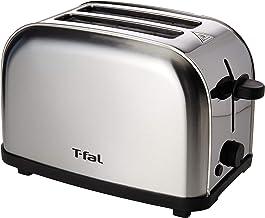 Tostador de Pan T-Fal TT330DMX Ultra Toaster Compacto Inox para dos panes con 6 niveles de temperatura de 700W y acero ino...