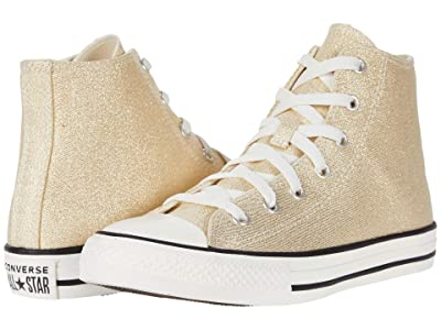 Converse Kids Chuck Taylor(r) All Star(r) Summer Sparkle Hi (Little Kid/Big Kid) (Egret/Black/Vintage White) Girl