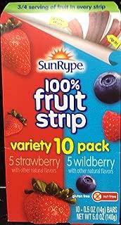 SunRype 100% Fruit Striip Variety 10 Pack Strawberry & Wildberry