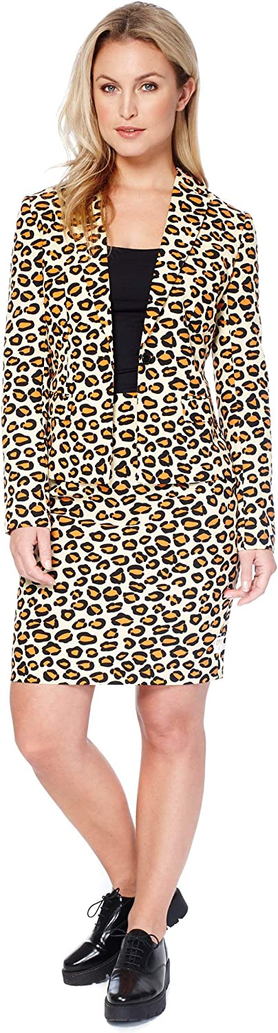 Opposuits – Lady Jag – Crazy Suits with Funny Prints for Women – Full Set: Jacket and Skirt – US 10