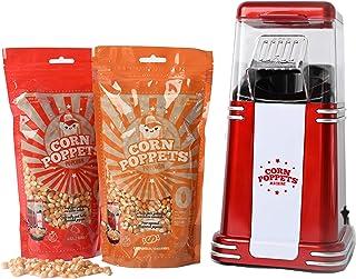 CORN POPPETS | Machine à Pop Corn | Machine à Popcorn sans Huile et sans fumée + 2 Sacs de Grains de maïs sucrés et salés...
