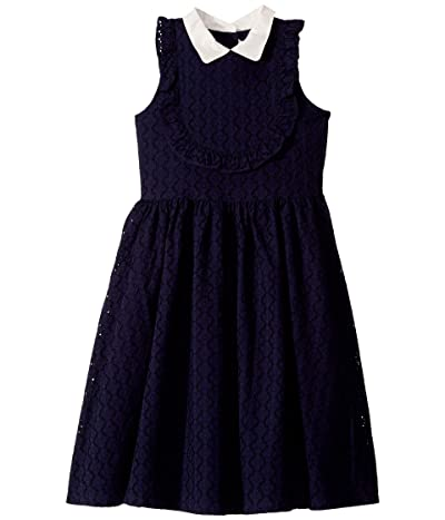 Janie and Jack Eyelet Dress (Toddler/Little Kids/Big Kids) (Navy) Girl