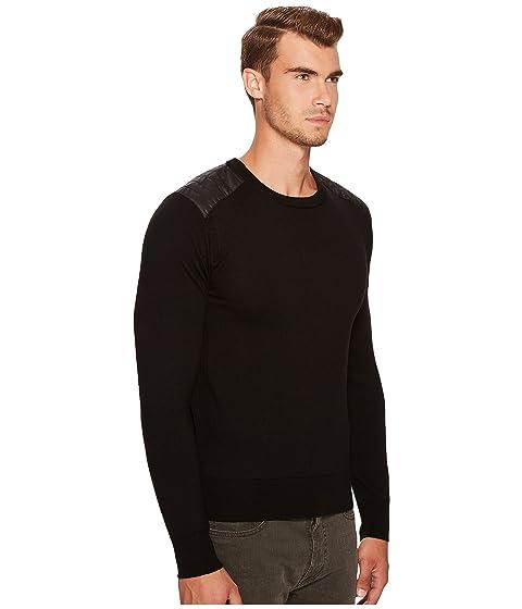 con cuello Suéter BELSTAFF con paneles negro de merina redondo Kerrigan lana 8BwETqx