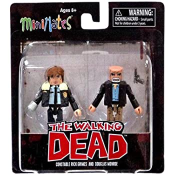 Walking Dead MiniMates CARL GRIMES and BURNING ZOMBIE