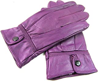 The Leather Emporium Ladies Genuine Leather Gloves Fully Fleece Lined