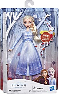 Disney Frozen Singing Elsa Fashion Doll with Music Wearing Blue Dress Inspired by Disney Frozen 2, Toy For Kids 3 Years an...