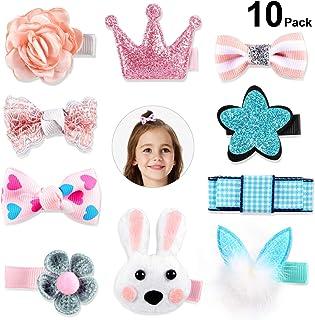 10 PCS Pinza de Pelo Niña, Rymall Horquillas para el Pelo Niña Horquilla Infantil Bebé Flor Arco Lazos para el Pelo para Niñas Bebé Adolescentes