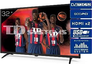 TD Systems K32DLK12H - Televisores 32 Pulgadas HD 3X HDMI, USB, 800 PCI Hz, Grabador Reproductor, DVB-T2/C/S2 Modo Hotel -...