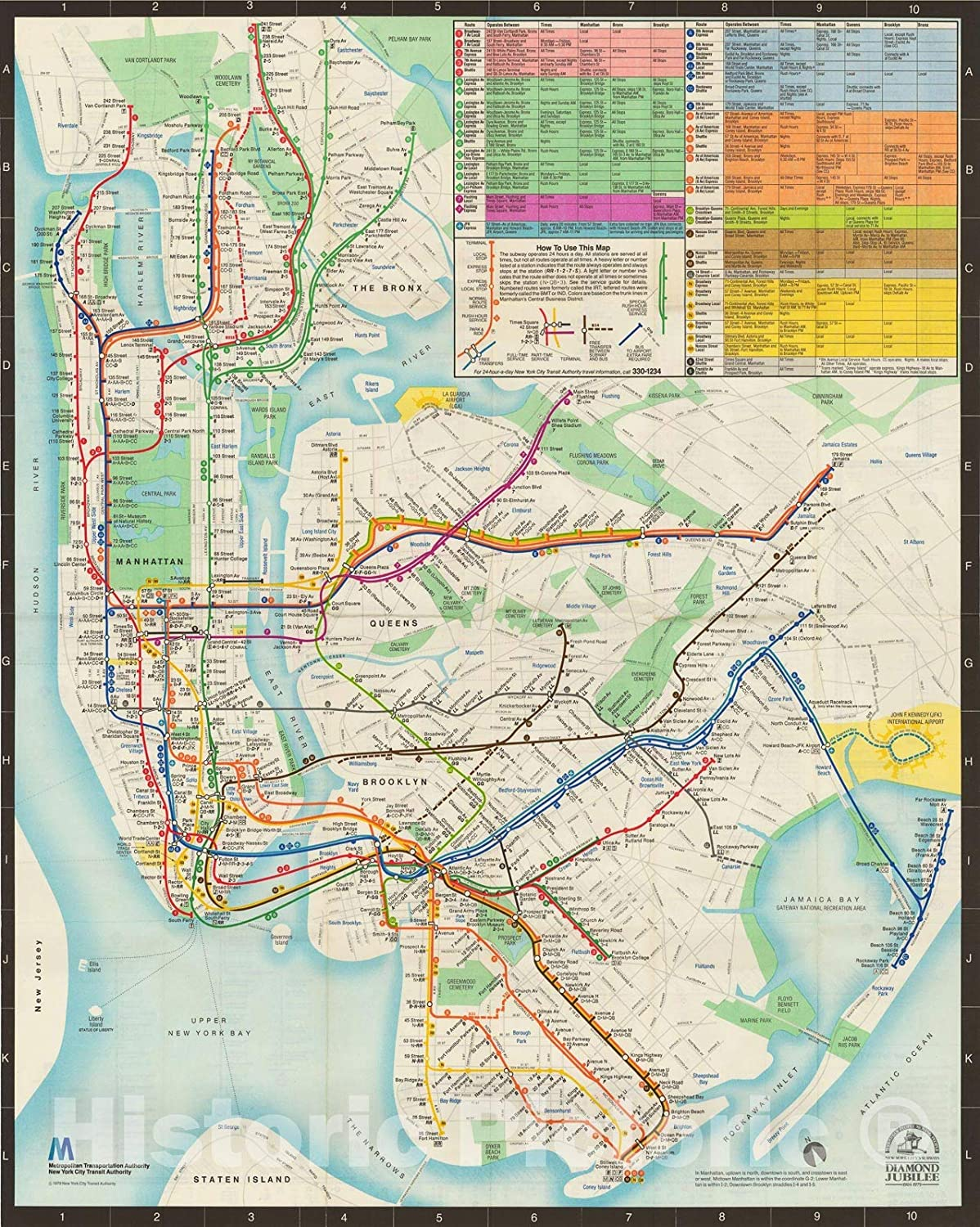 1939 NYC New York Subway Map Elevated Routes Wall Art Office Poster Print Decor