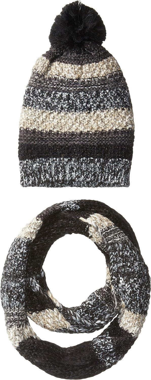 Steve Madden womens Night Wanderer Mixed Yarn 2 Pc Set Winter Accessory Set
