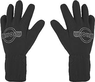 Fukuoku 910R-LG/910L-LG Right and Left Handed Five Finger Vibrating Massage Glove Kit, Black, Large