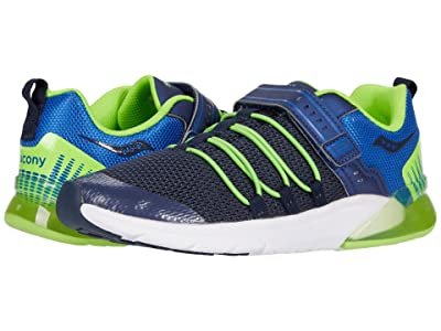 Saucony Kids S-Flash Glow 2.0 (Little Kid) (Navy/Green) Boys Shoes
