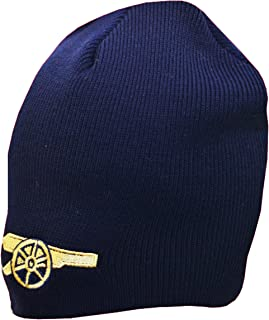 58c6df338b3 Arsenal FC Gunners Beanie - Knitted Hat - Gunners Bronx Beanie - Navy Blue  with Crest