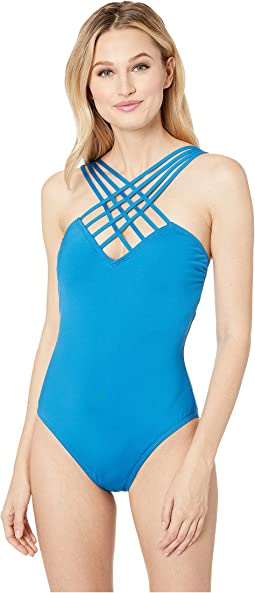 Sexy Solids Strappy Mio One-Piece