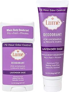 Lume Deodorant For Underarms & Private Parts Bundle Travel Tube + Propel Stick - Lavender Sage