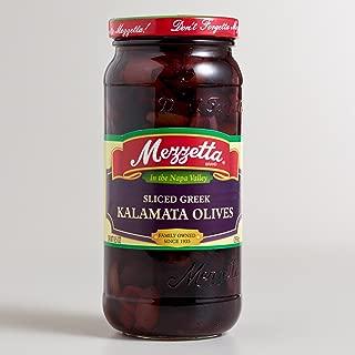 Mezzetta Sliced Greek Kalamata Olives, 9.5 Oz (Pack of 6)