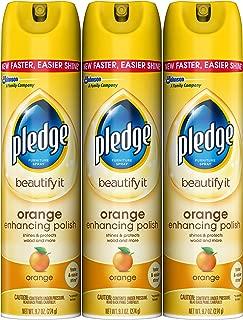Pledge Orange Enhancing Polish 9.7 oz, 3 ct