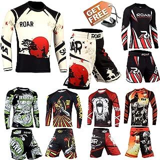 Roar MMA Rash Guard BJJ Grappling Shorts UFC Cage Fight No Gi Training Wear