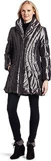 AK Anne Klein Women's Irridescent Puffer Coat